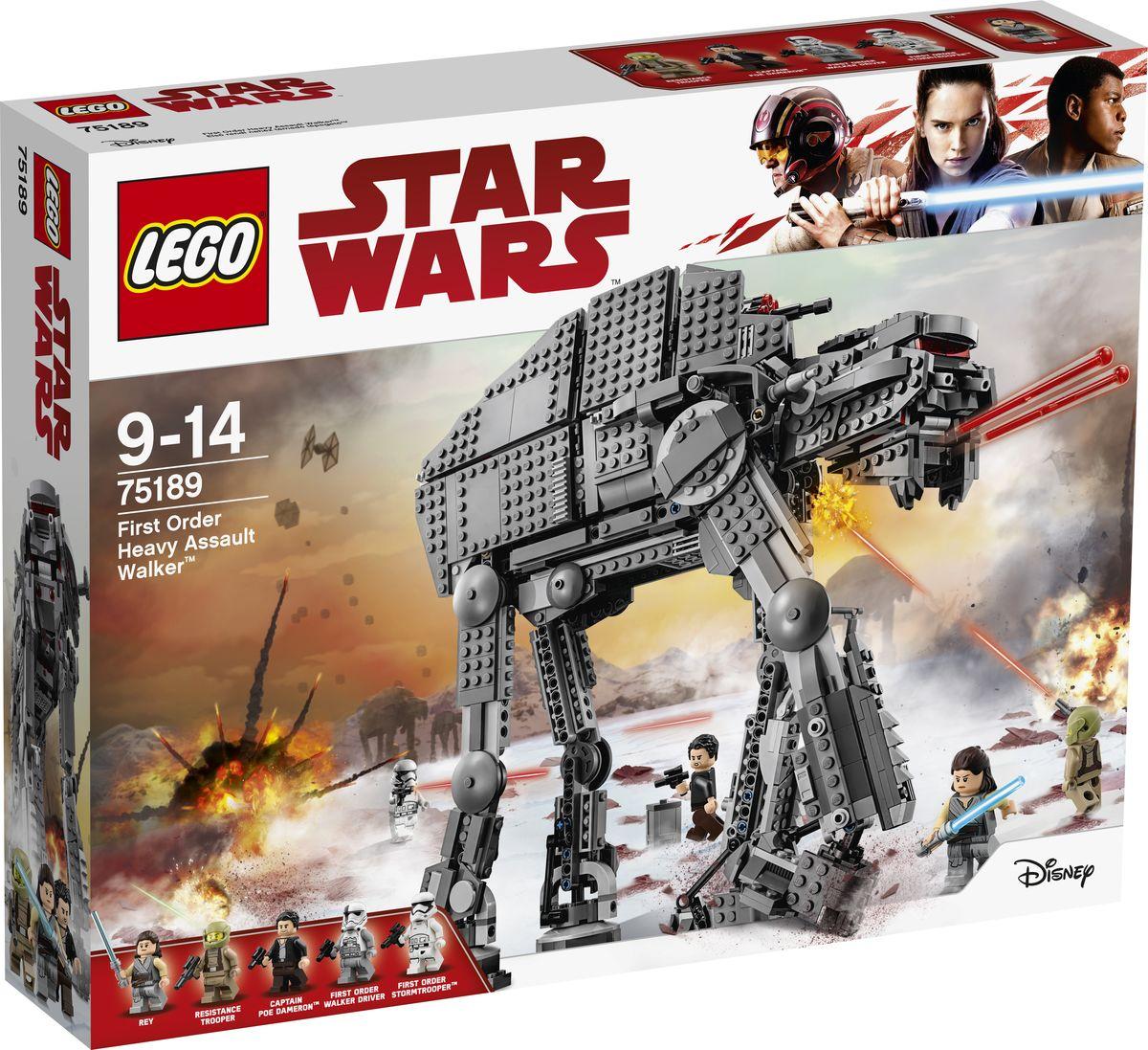 LEGO Star Wars Конструктор Штурмовой шагоход Первого Ордена 75189 конструктор lepin star plan тяжелый разведывательный шагоход первого ордена 620 дет 05126