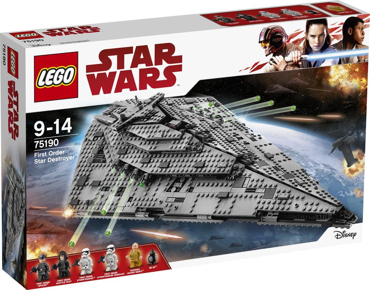 LEGO Star Wars Конструктор Звездный разрушитель Первого Ордена 75190 lego 60139 город мобильный командный центр