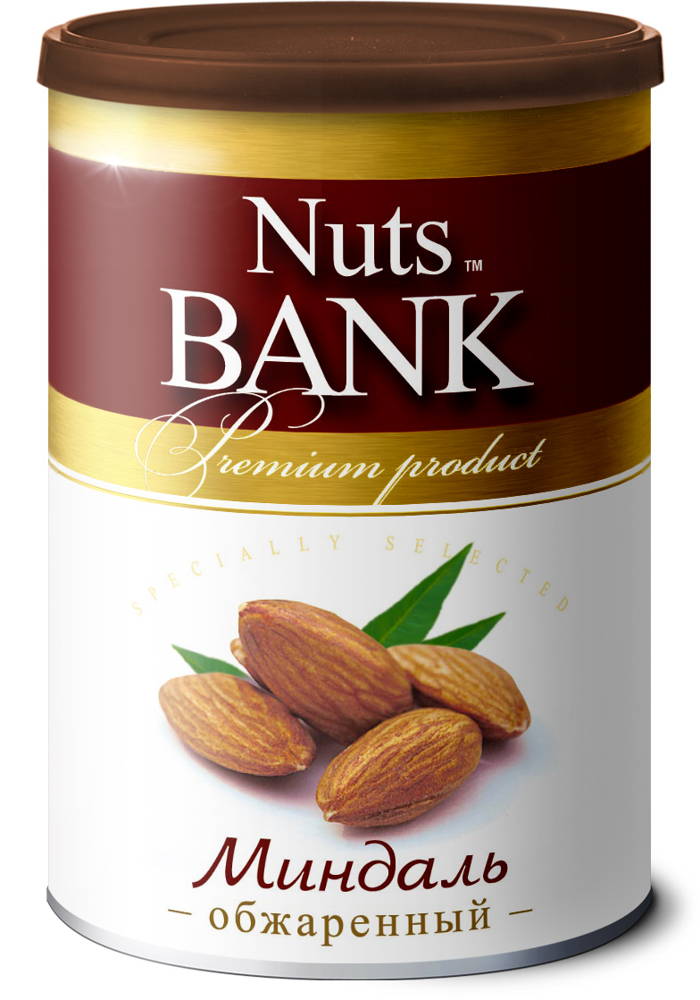 Nuts Bank Миндаль обжаренный, 200 г 32oz superior mixed nuts gift tin unsalted