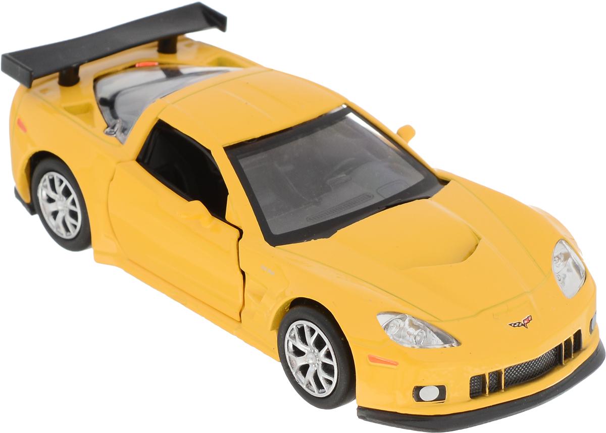 Autotime Модель автомобиля Chevrolet Corvette C6-R цвет желтый autotime набор машинок recovery truck long эвакуатор с прицепом