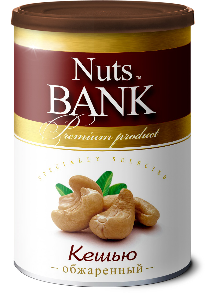 Nuts Bank Кешью обжаренный, 200 г 32oz superior mixed nuts gift tin unsalted