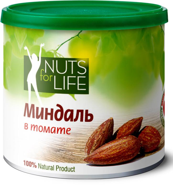 Nuts for Life Миндаль обжаренный соленый в томате, 115 гU920920Превосходный вкус жареного миндаля дополняют чудесные и легкие томаты. Прекрасный летний вкус этого снэка будет радовать вас в любое время и в любом месте. Натуральные высушенные на солнце и перемолотые томаты содержат большое количество антиоксидантов, которые помогут сохранить вашу молодость, а миндаль поможет укрепить сердце, сосуды и зрение!