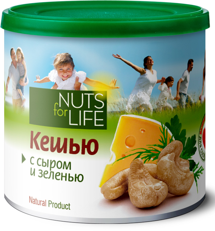 Nuts for Life Кешью обжаренный соленый с сыром и зеленью, 115 г injection mold 100