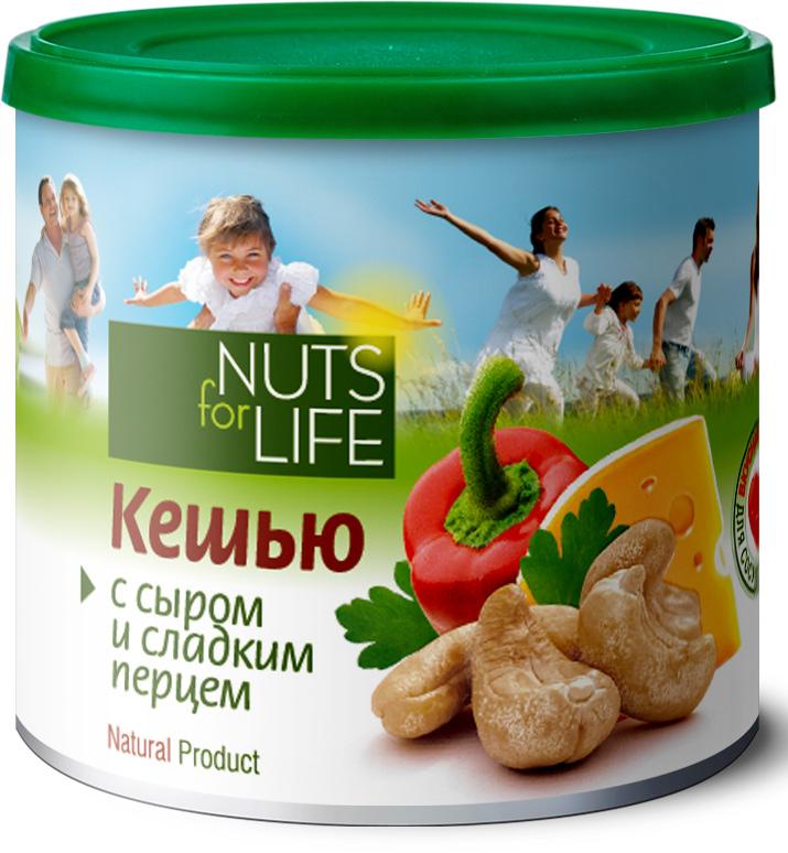 Nuts for Life Кешью обжаренный соленый с сыром, сладким перцем и зеленью, 115 г тан fine life с огурцом и зеленью 0 5%