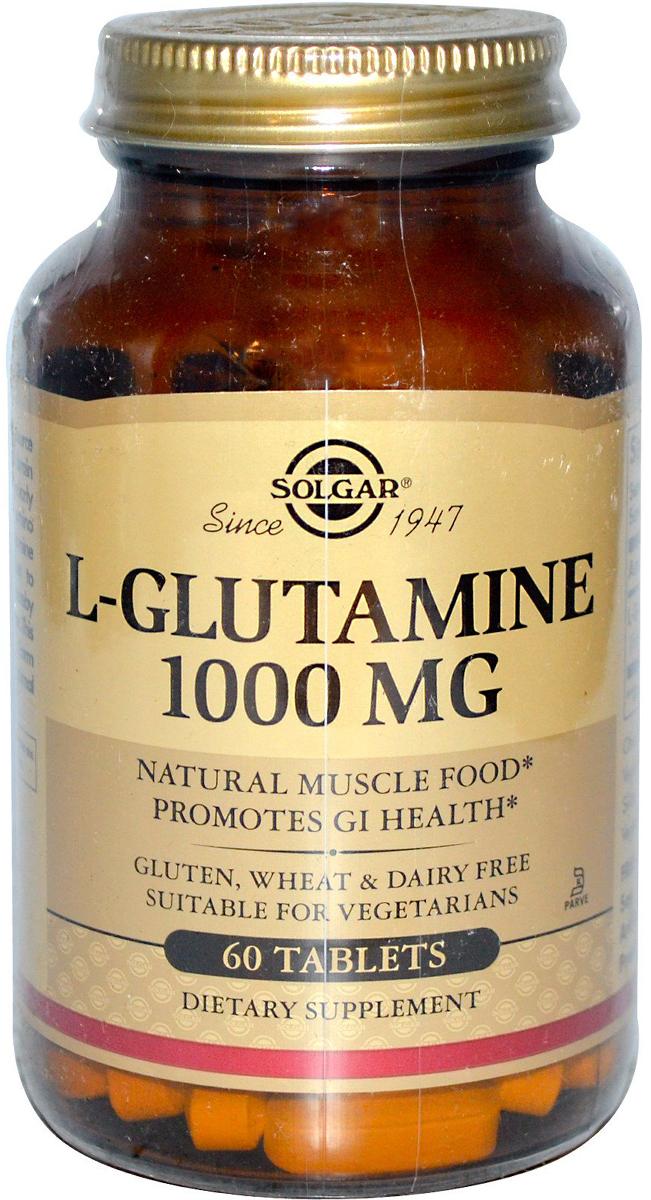 Солгар L- Глутамин таблетки 1000 мг №60211590в комплексной терапии способствует заживлению и восстановлению слизистой желудка и кишечника при язвах, гастритах, геморроях и трещинах заднего прохода. L-Глутамин, обладая ноотропным действием, способствует улучшению памяти, концентрации внимания, работоспособностию. При занятиях спортом L-Глутамин участвует в формировании мышечной ткани, улучшает питание мышц. L-форма Глутамина способствует быстрому усвоению, отсутствию дискомфорта в ЖКТ. Сфера применения: ВитаминологияМакро- и микроэлементы