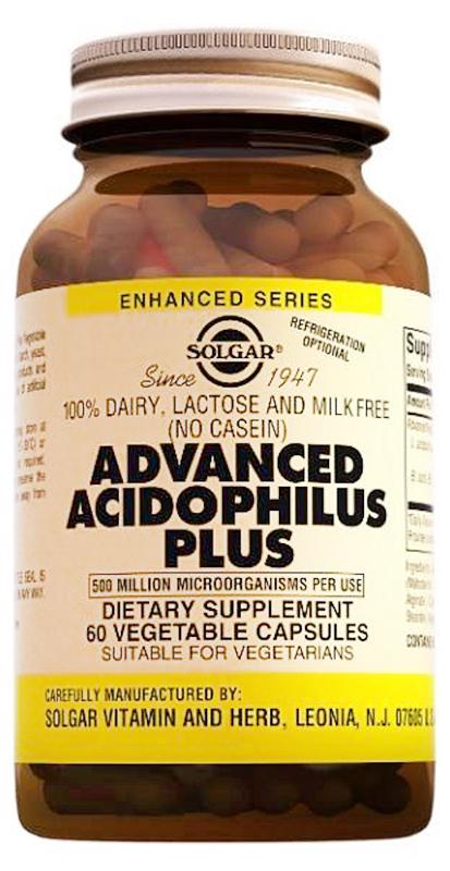 Солгар Ацидофилус плюс капсулы №60212849Ацидофилус плюс рекомендуется для восстановления микрофлоры кишечника. При производстве Ацидофилус плюс используется особая технология двойного капсулирования, которая обеспечивает выживаемость бактерий при прохождении через желудочно-кишечный тракт. Ацидофилус плюс можно принимать людям с непереносимостью лактозы. Ацидофилус плюс не требует хранения в холодильнике. Сфера применения: ГастроэнтерологияПрепараты для желудочно-кишечного тракта
