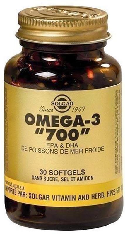 Двойная Омега-3 Солгар, ЭПК и ДГК, капсулы 700 мг, №30213388Жирные кислоты Омега-3 способствуют защите зрения, улучшению работы головного мозга, профилактике сердечно-сосудистых заболеваний, снижению уровня холестерина.Двойная Омега-3 Солгар, ЭПК и ДГК содержит ПНЖК Омега -3 -1400 мг (суточная дозировка) и производится по уникальной технологии молекулярной дистилляции, методу, который позволяет удалить соли тяжелых металлов из рыбьего жира. Для защиты от прогоркания и окисления в каждую капсулу Двойная Омега-3 Солгар, ЭПК и ДГК добавлен натуральный витамин Е.Сфера применения: витаминология, омега.