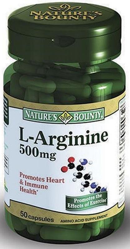 Нэйчес Баунти L Аргинин 500 мг капсулы №50 - Аптека