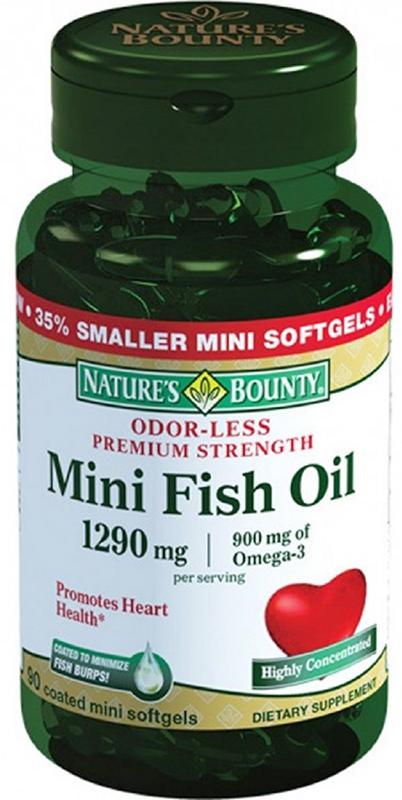 Нэйчес Баунти Омега-3 900 мг капсулы №90221467В суточном приеме содержится 980 мг Омега-3. Омега-3 980 мг удобно принимать (всего один раз в день), а специальное покрытие обеспечивает отсутствие специфического рыбьего запаха и послевкусия при приеме. Сфера применения: ВитаминологияОмега