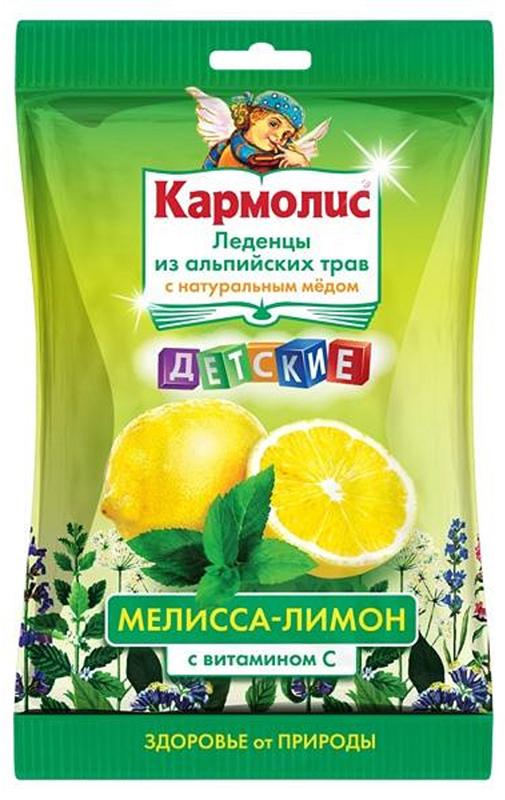 Леденцы детские Кармолис, с медом и витамином С, мелисса, лимон, 75 г222034Леденцы Кармолис оказывают иммуномодулирующее, противовирусное, антисептическое, отхаркивающее, противовоспалительное, болеутоляющее, анксиолитическое, седативное, ветрогонное, желчегонное, спазмолитическое действие.Сфера применения: оториноларингология, против гриппа и простуды.