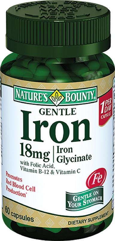 Нэйчес Баунти Легкодоступное железо капсулы №60222296Легкодоступное железо 18 мг - это комплексный продукт, содержащий железо, фолиевую кислоту и витамин В12. Сфера применения: ВитаминологияМакро- и микроэлементы