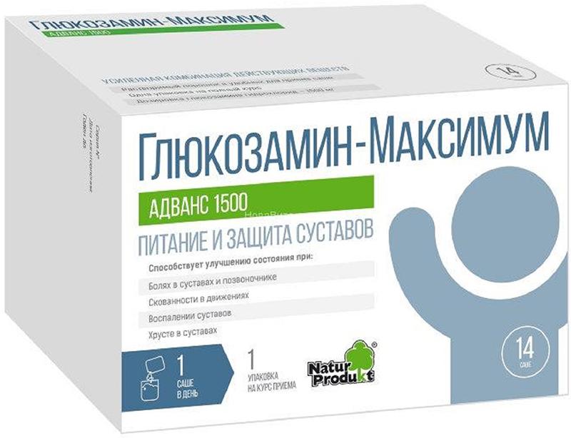 Глюкозамин-Максимум Адванс 1500, порошок, 14 саше x 10 г авто максимум москва полимер