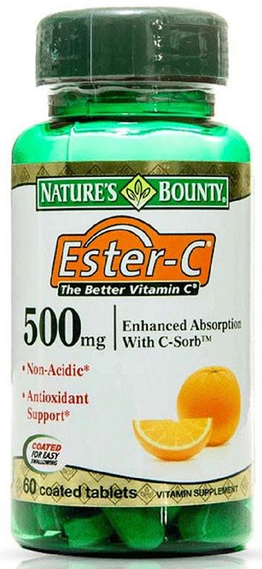 Нэйчес Баунти Эстер-С 500 мг №60223552Витамин С (аскорбиновая кислота) способен негативно воздействовать на стенки желудка, поскольку обладает низким, кислотным рН. Поэтому при повышенной кислотности, гастрите и язве желудка противопоказан прием аскорбиновой кислоты. Эстер-С – это активный метаболит витамина С (аскорбат кальция), который не обладает кислотным рН и нейтрален при попадании в желудок, не разрушает его стенки. Сфера применения: ВитаминологияМакро- и микроэлементы