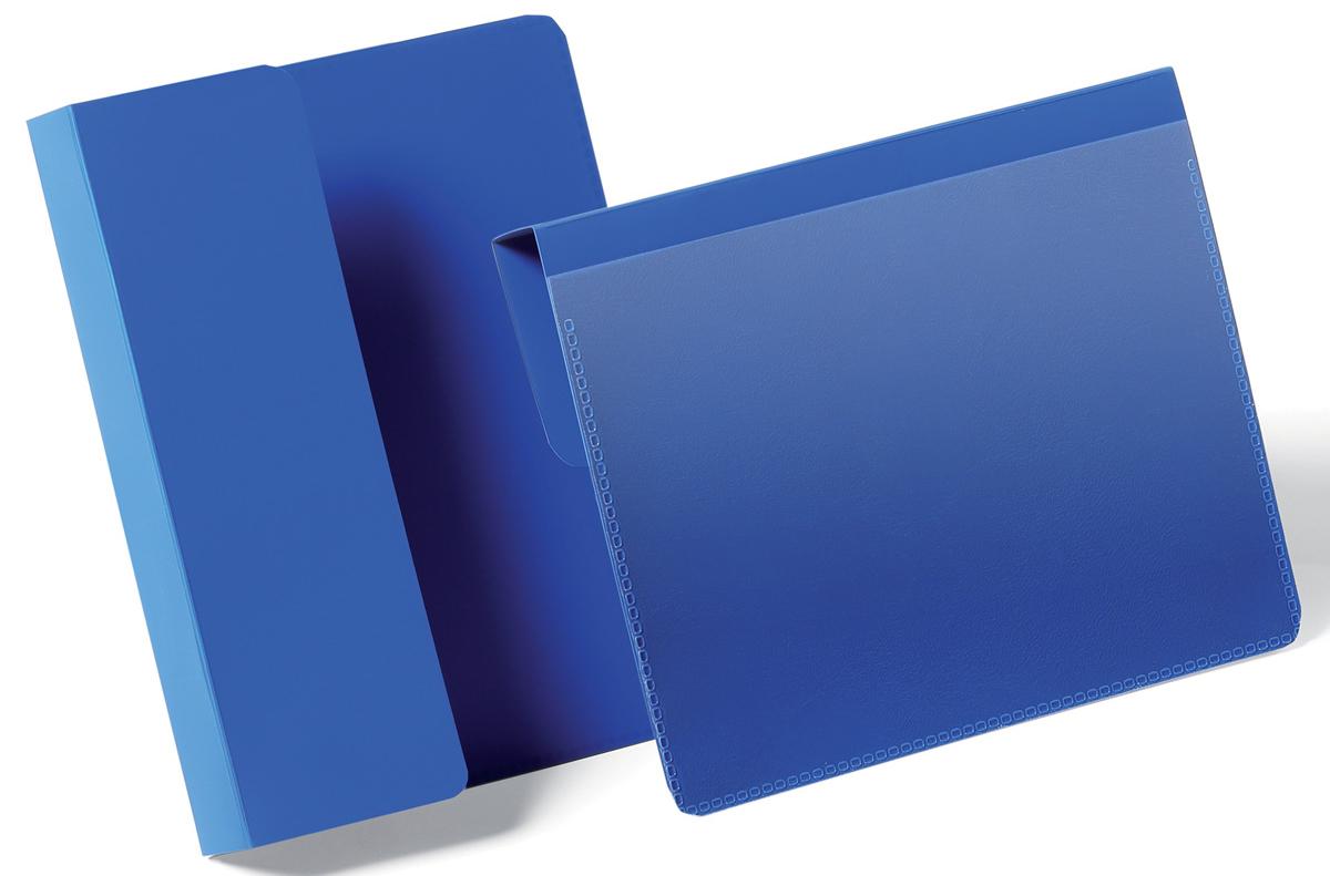 Durable Карман для маркировки паллет цвет синий 1721-071721-07Карман для маркировки паллет или транспортных коробов. Фиксируется с помощью подгибаемого вкладыша между коробами или на паллете. Выполнен из высококачественного износостойкого полипропилена. Прозрачный карман позволяет быстро заменить вкладыш, а также сканировать штрих код, не вынимая документ из кармана. Размер вкладыша: A6 горизонтальный (105 x 148 мм)Внешние размеры кармана: 168 x 216 x 0,6 мм