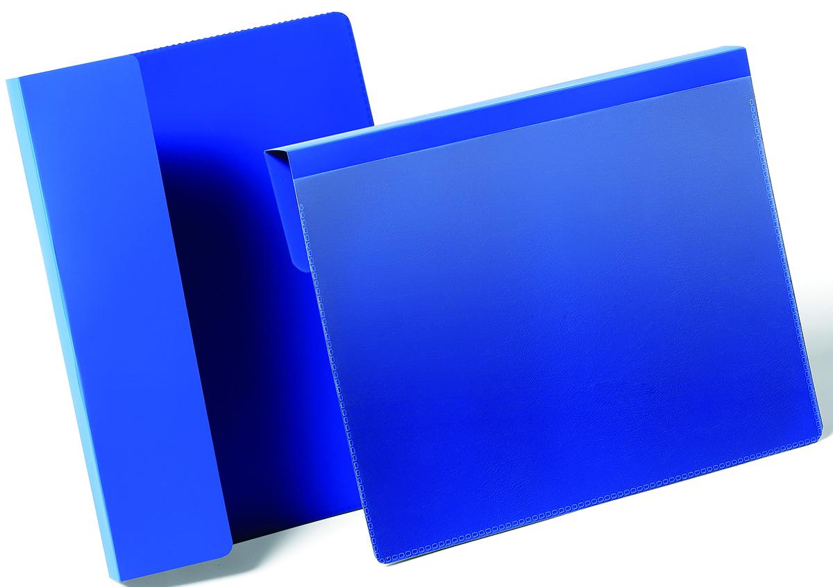 Durable Карман для маркировки паллет цвет синий 1722-071722-07Карман для маркировки паллет или транспортных коробов. Фиксируется с помощью подгибаемого вкладыша между коробами или на паллете. Выполнен из высококачественного износостойкого полипропилена. Прозрачный карман позволяет быстро заменить вкладыш, а также сканировать штрих код, не вынимая документ из кармана. Размер вкладыша: A5 горизонтальный (148,5 x 210 мм)Размер кармана: 230 x 259 x 0,6 мм