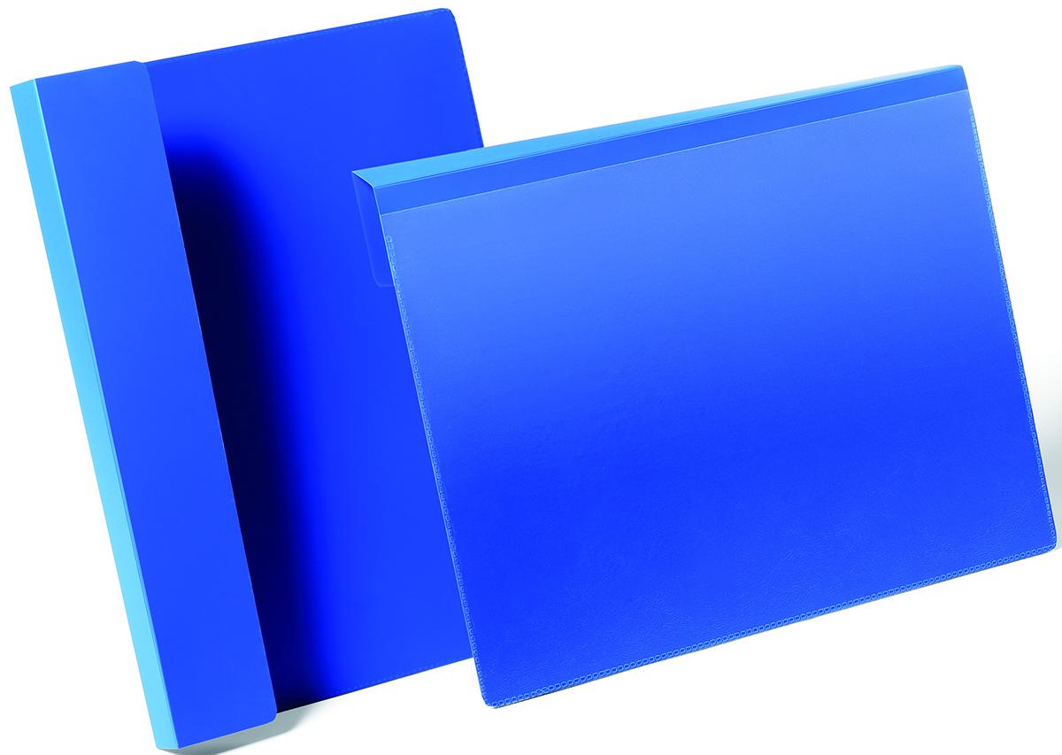 Durable Карман для маркировки паллет цвет синий 1723-071723-07Карман для маркировки паллет или транспортных коробов. Фиксируется с помощью подгибаемого вкладыша между коробами или на паллете. Выполнен из высококачественного износостойкого полипропилена. Прозрачный карман позволяет быстро заменить вкладыш, а также сканировать штрих код, не вынимая документ из кармана. Размер вкладыша: A4 горизонтальный (297 x 74 мм)Размер кармана: 317 x 321 x 0,6 мм