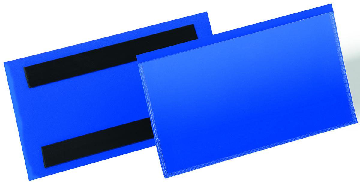 Durable Карман для маркировки цвет синий 1742-071742-07Карман для документов с двумя магнитными полосами на задней стороне. Фиксируется на металлической поверхности. Отличное решение для складских стеллажей, металлических контейнеров и т.д. Карман выполнен из высококачественного износостойкого полипропилена. Тыльная сторона голубого цвета. Копирование документа не вынимая из кармана. Легкая замена вкладыша.Внутренние размеры: 150 x 67 мм (Ш x В)Внешние размеры: 163 x 83 мм (Ш x В)Упаковка: 50 штук