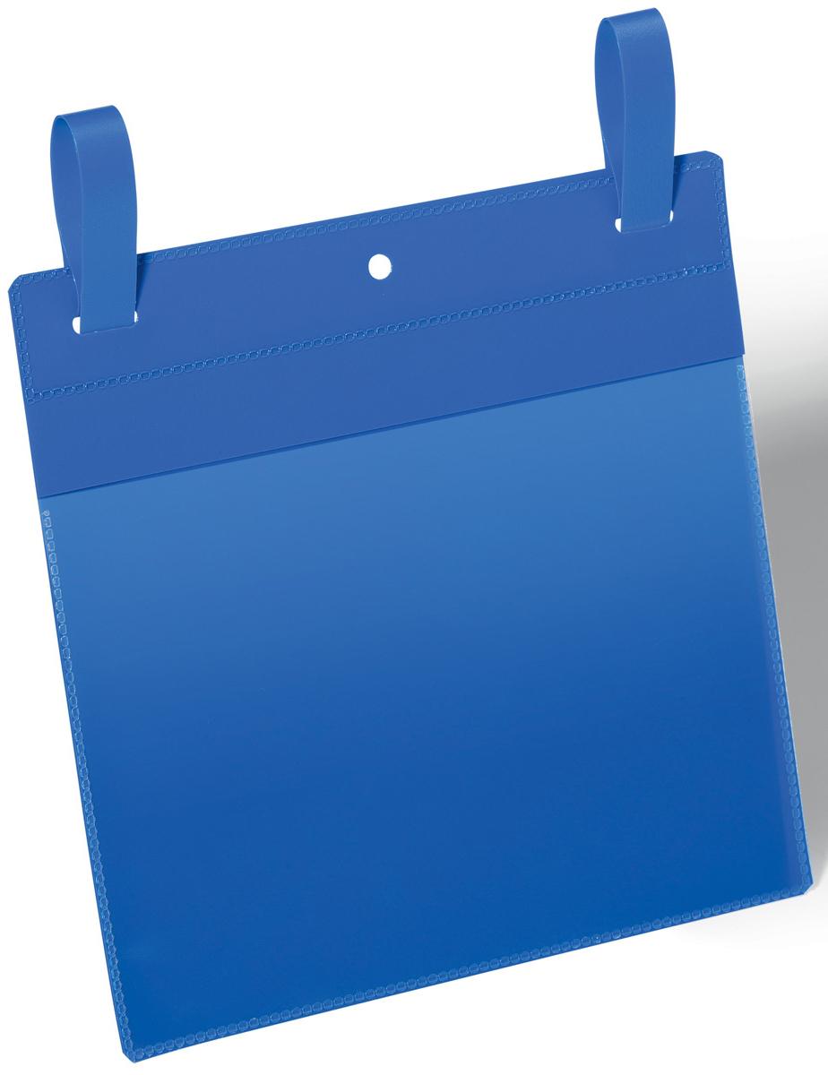 Durable Карман с ремешком-застежкой цвет синий 1749-07 -  Папки