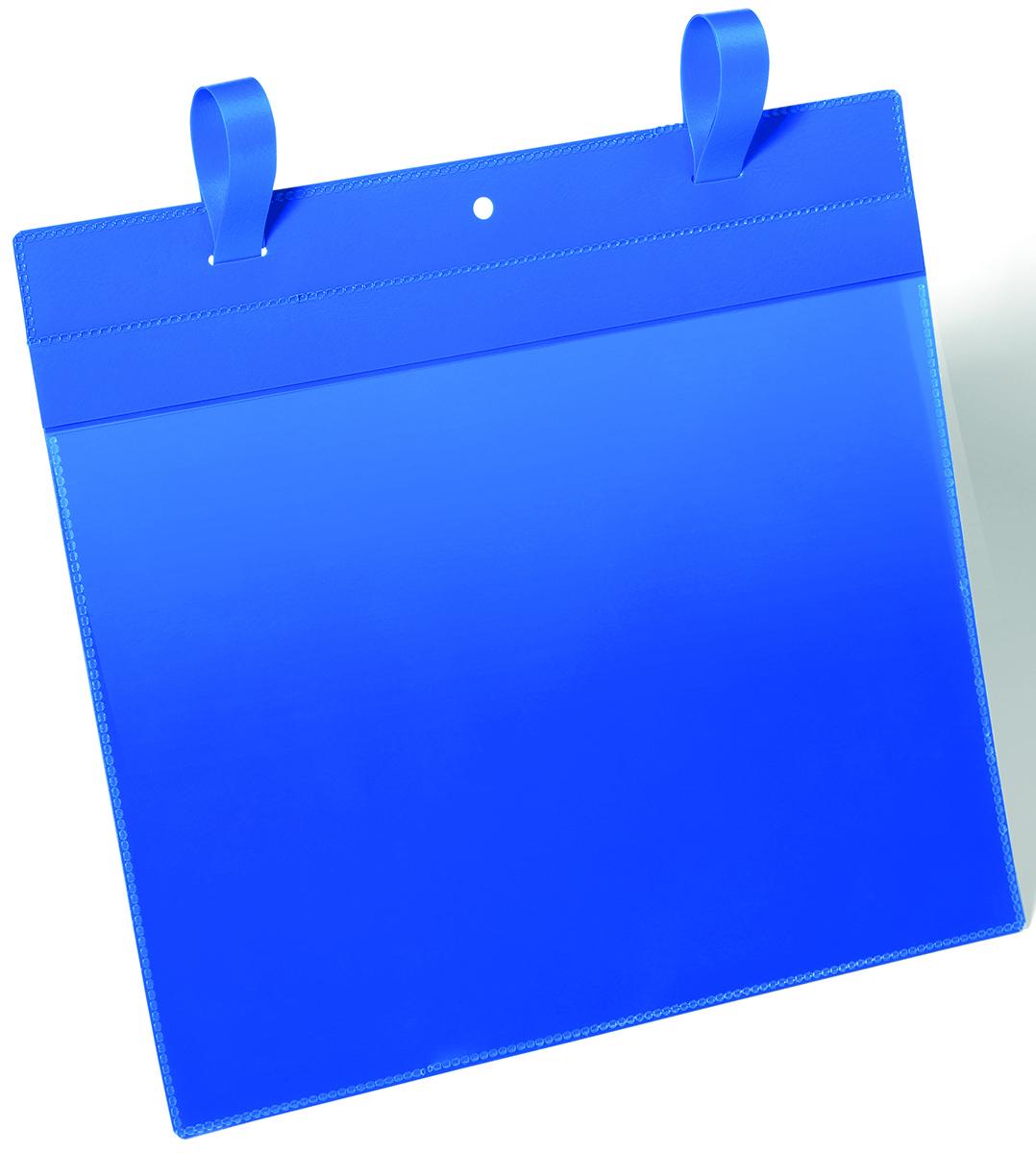 Durable Карман с ремешком-застежкой цвет синий 1751-071751-07Карман с ремешком-застежкой. Отлично подходит для использования в складских помещениях и торговых центрах. Благодаря специальному клапану, защищающему вкладыш от осадков и пыли, может использоваться на улице. Надежно фиксируется на транспортных контейнерах с обрешеткой. Даже при резких движениях карман остается на своем месте. Синяя подложка и прозрачное окошко выполнены из износостойкого полипропилена. Не бликует, что удобно для сканирования, не вынимая документ. Быстрая и удобная замена вкладыша. Для оформления вкладыша воспользуйтесь бесплатной программой DURAPRINTВнутренние размеры: A4 горизонтальныйВнешние размеры: 311 x 448 мм (Ш x В)Упаковка: 50 шт.