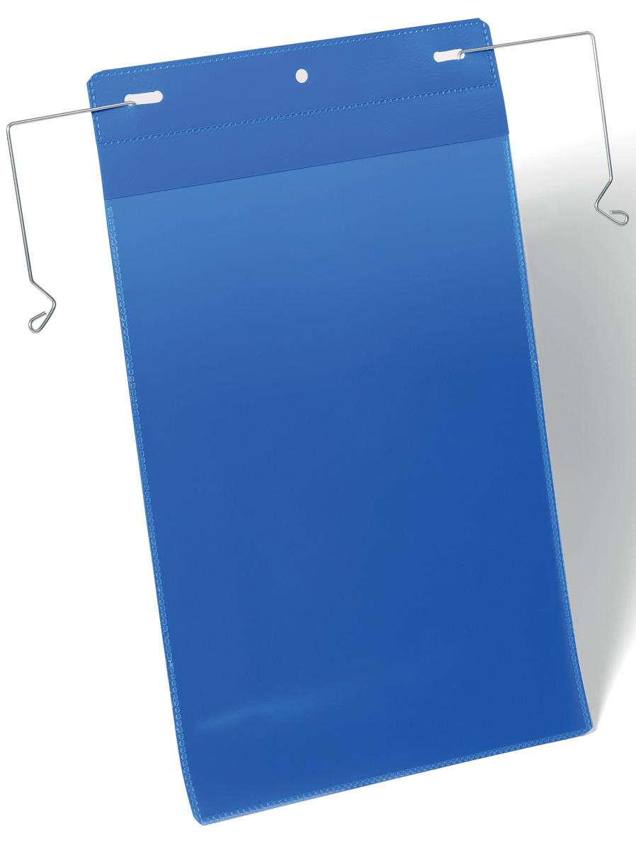 Durable Карман для маркировки вертикальный 1753-071753-07Карман Durable предназначен для маркировки транспортных контейнеров, складских коробов, емкостей в металлической или деревянной обрешетке. Гальванизированная эластичная проволока для быстрой и надежной фиксации кармана. Благодаря специальному клапану, защищающему вкладыш от осадков и пыли, может использоваться на улице. Синяя подложка и прозрачное окошко выполнены из износостойкого полипропилена. Не бликует, что удобно для сканирования, не вынимая документ. Быстрая и удобная замена вкладыша. Внутренние размеры: A4.Внешние размеры: 22,3 x 36,8 см.Внешние размеры с механизмом фиксации: 32,9 х 37,6 см.