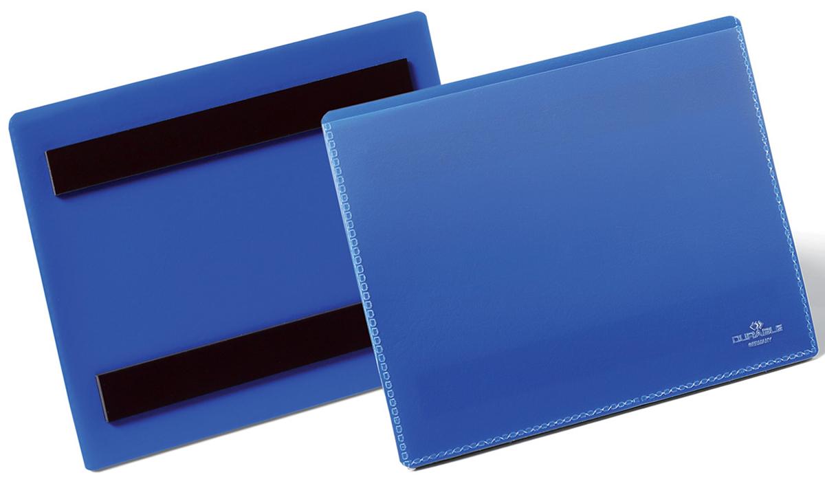 Durable Карман магнитный для маркировки цвет синий 1756-071756-07Карман для маркировки с магнитными полосами на тыльной стороне для фиксации на металлических поверхностях. Оптимальное решение для складских нужд: маркировка металлических стеллажей, контейнеров и т.д. Выполнен из высококачественного износостойкого полипропилена. Прозрачное окно позволяет сканировать штрих код без выемки вкладыша из кармана.Размер вкладыша: A6 горизонтальный (105 x 148 мм)Внешний размер кармана: 163 x 120 x 2,3 мм