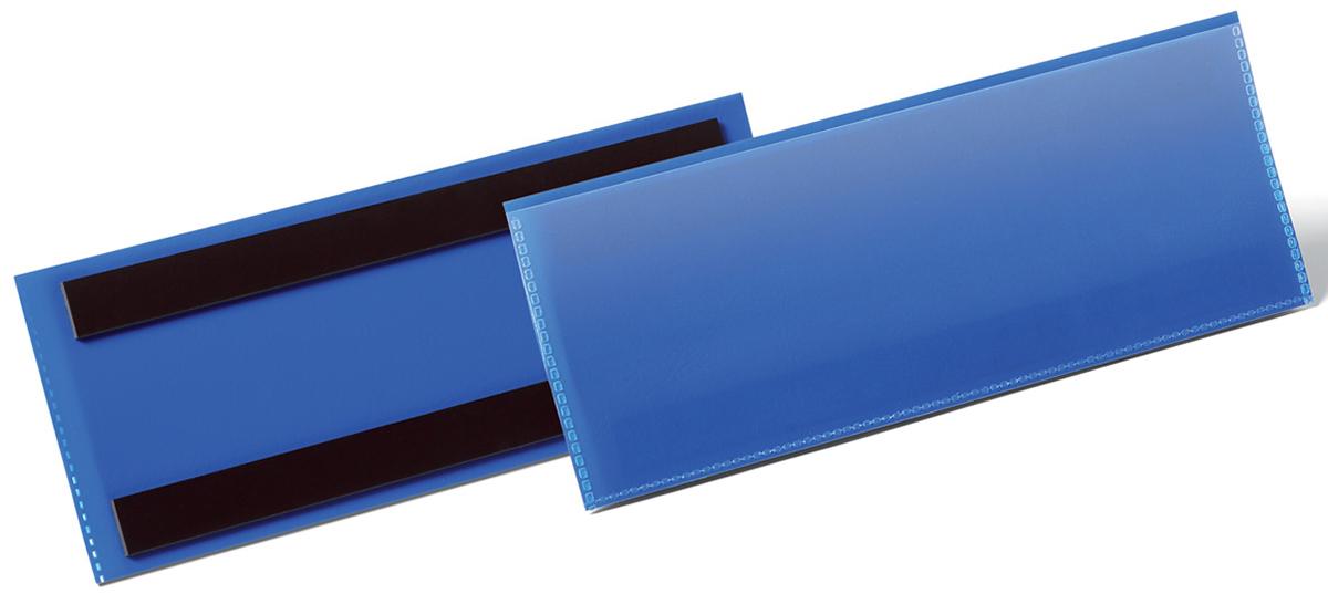 Durable Карман магнитный для маркировки горизонтальный цвет синий 1757-071757-07Карман для маркировки Durable имеет 2 магнитные полосы на тыльной стороне. Карман выполнен из плотного износостойкого полипропилена. Прозрачный верх позволяет сканировать штрих код, не вынимая его. Прекрасный инструмент для маркировки складских металлических стеллажей и контейнеров.Размер вкладыша: 1/2 A5 (21 x 7,4 см).Внешний размер кармана: 223 x 81,5 x 2,3 мм.