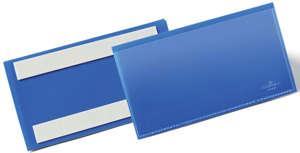Durable Карман cамоклеящийся для маркировки 1762-071762-07Карман для маркировки с двумя клейкими полосами на тыльной стороне. Выполнен из плотного износостойкого полипропилена. быстрая удобная замена информационного вкладыша. Возможность сканирования документа без изъятия из кармана. Рекомендован к применению в складских и логистических комплексах для маркировки паллет, контейнеров, стеллажей.Размер вкладыша: 15 x 6,7 см.Размер кармана: 163 x 83 x 1,7 мм.