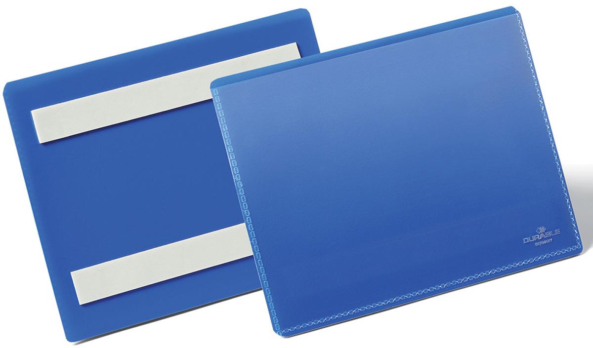 Durable Карман cамоклеящийся для маркировки цвет синий 1763-07 -  Папки