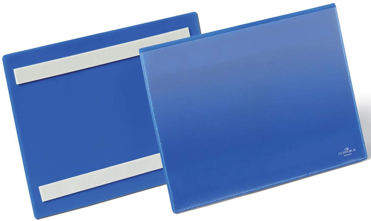 Durable Карман cамоклеящийся для маркировки цвет синий 1795-07 -  Папки