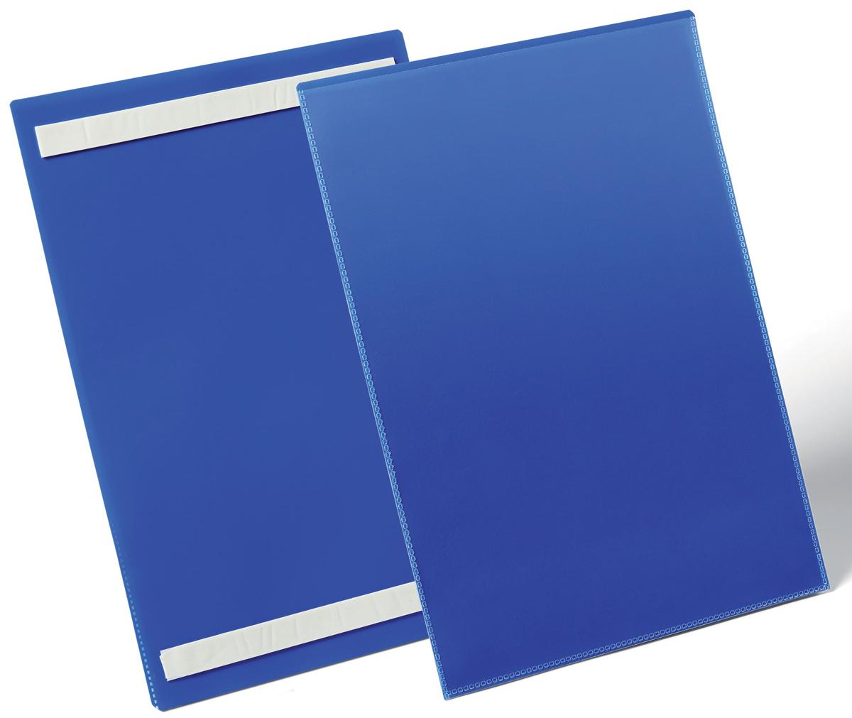 Durable Карман cамоклеящийся для маркировки цвет синий 1797-071797-07Самоклеящийся карман с двумя клейкими полосами на тыльной стороне. Выполнен из плотного износостойкого полипропилена. Прозрачное окно на лицевой стороне не бликует, что позволяет сканировать документ, не извлекая его из кармана.Рекомендован для маркировки паллет, стеллажей, контейнеров и т.д.Готовые шаблоны вкладыша в бесплатной программе www.duraprint.eu.Размер вкладыша: A4 вертикальный (210 x 297 мм)Размеры кармана: 233 x 313 x 1,7 мм
