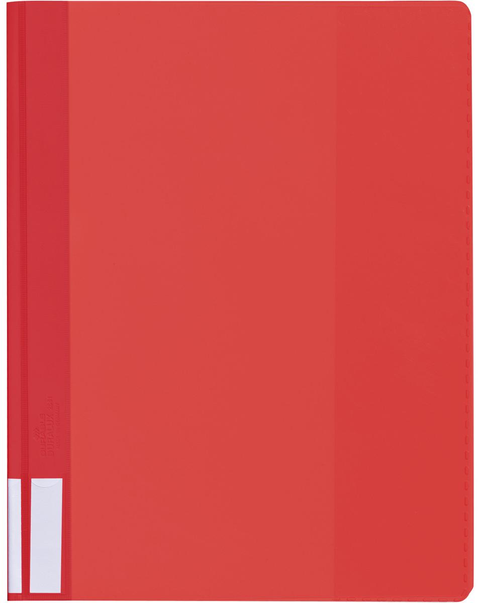 Durable Папка-скоросшиватель А4 цвет красный2681-03Папка-скоросшиватель из прочного ПВХ с жесткой верхней обложкой. На задней обложке карман для бумаг. На корешке место для маркировки. Может служить подвесной папкой при наличии подвесной шины арт. 1531.