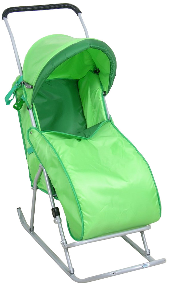 Фея Санки-коляска Метелица Люкс с тентом цвет зеленый фея подставка для купания гамак цвет в ассортименте