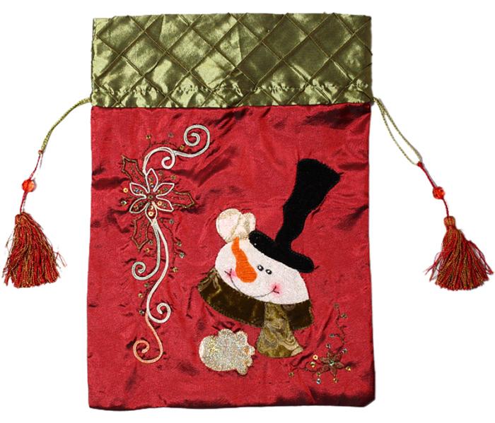 Украшение новогоднее подвесное Magic Time Мешочек для подарков. Снеговик1116472Новогоднее подвесное украшение - мешочек для подарков Снеговик.