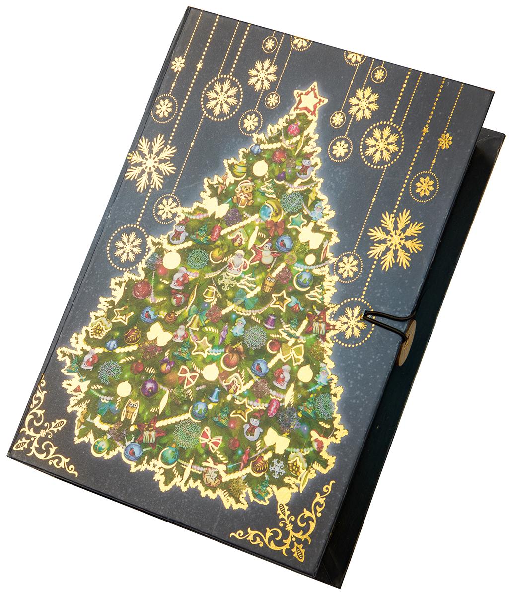 Коробка подарочная Magic Time Новогодняя ночь, размер S. 7502275022Подарочная коробка Magic Time, выполненная из мелованного, ламинированного картона, закрывается на пуговицу. Крышка оформлена декоративным рисунком. Подарочная коробка - это наилучшее решение, если вы хотите порадовать ваших близких и создать праздничное настроение, ведь подарок, преподнесенный в оригинальной упаковке, всегда будет самым эффектным и запоминающимся. Окружите близких людей вниманием и заботой, вручив презент в нарядном, праздничном оформлении.Плотность картона: 1100 г/м2.