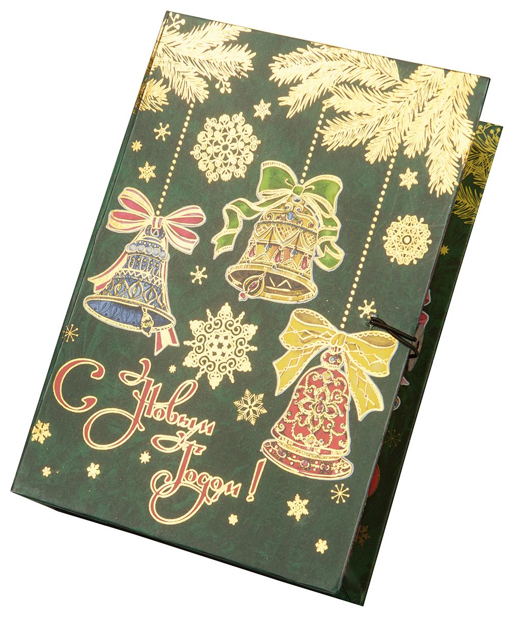 Коробка подарочная Magic Time Елка с колокольчиками, размер M. 7502375023Подарочная коробка Елка с колокольчиками-M из мелованного, ламинированного, негофрированного картона плотностью 1100 г, м2, с полноцветным декоративным рисунком на внутренней и наружной части, 20x14x6, артикул 75023
