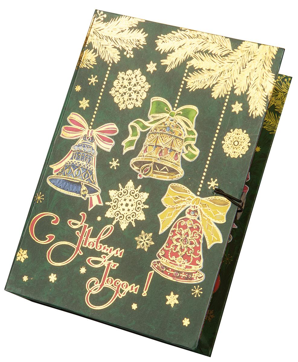 Коробка подарочная Magic Time Елка с колокольчиками, размер S. 7502475024Подарочная коробка Magic Time, выполненная из мелованного, ламинированного картона, закрывается на пуговицу. Крышка оформлена декоративным рисунком.Подарочная коробка - это наилучшее решение, если вы хотите порадовать ваших близких и создать праздничное настроение, ведь подарок, преподнесенный в оригинальной упаковке, всегда будет самым эффектным и запоминающимся. Окружите близких людей вниманием и заботой, вручив презент в нарядном, праздничном оформлении.Плотность картона: 1100 г/м2.