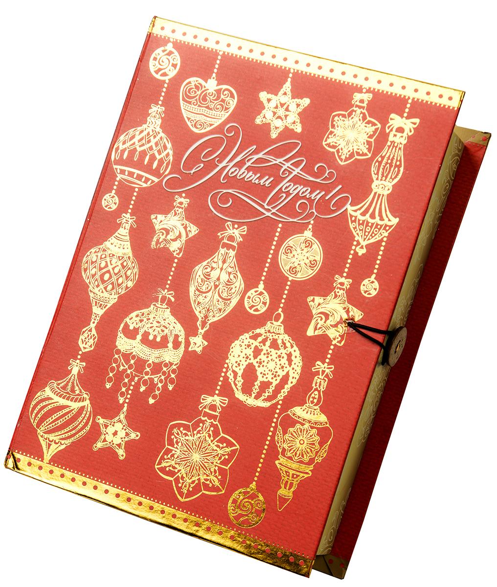 Коробка подарочная Magic Time Золото на красном, размер S. 7503075030Подарочная коробка Magic Time, выполненная из мелованного, ламинированного картона, закрывается на пуговицу. Крышка оформлена декоративным рисунком.Подарочная коробка - это наилучшее решение, если вы хотите порадовать ваших близких и создать праздничное настроение, ведь подарок, преподнесенный в оригинальной упаковке, всегда будет самым эффектным и запоминающимся. Окружите близких людей вниманием и заботой, вручив презент в нарядном, праздничном оформлении.Плотность картона: 1100 г/м2.