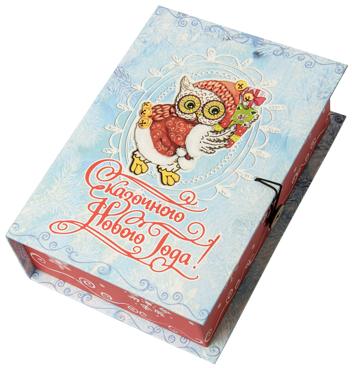 Коробка подарочная Magic Time Новогодняя сова, размер M. 7503575035Подарочная коробка Новогодняя сова-M из мелованного, ламинированного, негофрированного картона плотностью 1100 г, м2, с полноцветным декоративным рисунком на внутренней и наружной части, 20x14x6, артикул 75035