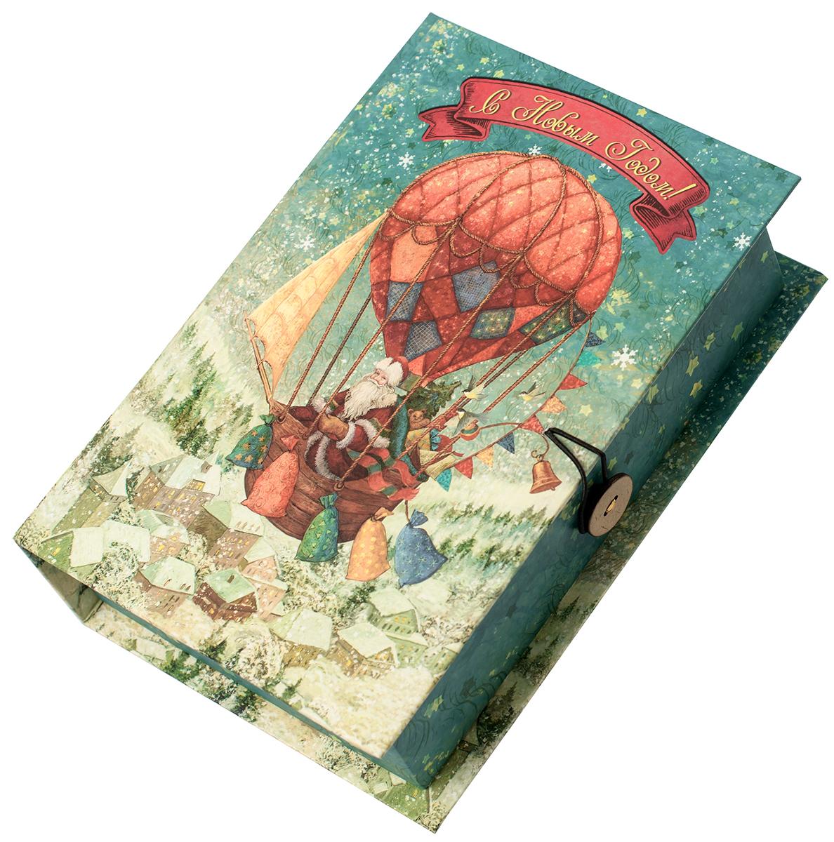 Коробка подарочная Magic Time Доставка подарков, размер M. 7503775037Подарочная коробка Magic Time, выполненная из мелованного, ламинированного картона, закрывается на пуговицу. Крышка оформлена декоративным рисунком.Подарочная коробка - это наилучшее решение, если вы хотите порадовать ваших близких и создать праздничное настроение, ведь подарок, преподнесенный в оригинальной упаковке, всегда будет самым эффектным и запоминающимся. Окружите близких людей вниманием и заботой, вручив презент в нарядном, праздничном оформлении.Плотность картона: 1100 г/м2.