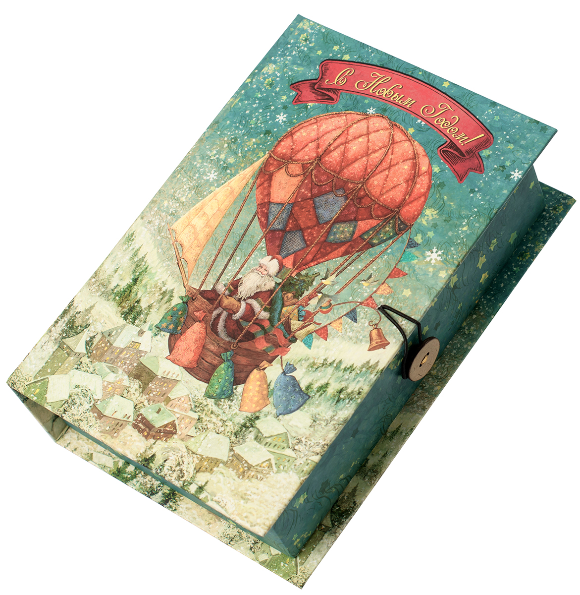 Коробка подарочная Magic Time Доставка подарков, размер S. 7503875038Подарочная коробка Magic Time, выполненная из мелованного, ламинированного картона, закрывается на пуговицу. Крышка оформлена декоративным рисунком.Подарочная коробка - это наилучшее решение, если вы хотите порадовать ваших близких и создать праздничное настроение, ведь подарок, преподнесенный в оригинальной упаковке, всегда будет самым эффектным и запоминающимся. Окружите близких людей вниманием и заботой, вручив презент в нарядном, праздничном оформлении.Плотность картона: 1100 г/м2.