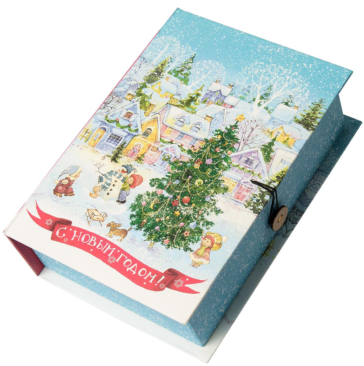 Коробка подарочная Magic Time Новогодняя площадь, размер M. 7503975039Подарочная коробка Новогодняя площадь-M из мелованного, ламинированного, негофрированного картона плотностью 1100 г, м2, с полноцветным декоративным рисунком на внутренней и наружной части, 20x14x6, артикул 75039