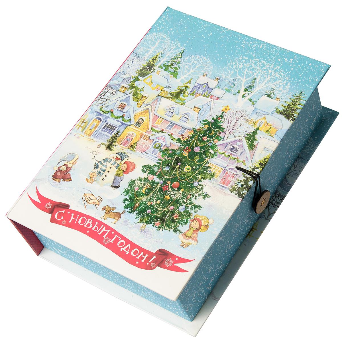 Коробка подарочная Magic Time Новогодняя площадь, размер S. 7504075040Подарочная коробка Новогодняя площадь-S из мелованного, ламинированного, негофрированного картона плотностью 1100 г, м2, с полноцветным декоративным рисунком на внутренней и наружной части, 18x12x5, артикул 75040