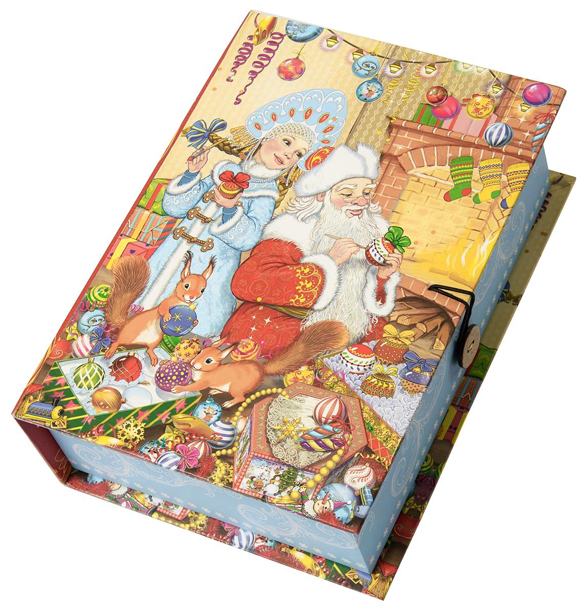 Коробка подарочная Magic Time Внучка Деда Мороза, размер S. 7504275042Подарочная коробка Magic Time, выполненная из мелованного, ламинированного картона, закрывается на пуговицу. Крышка оформлена декоративным рисунком. Подарочная коробка - это наилучшее решение, если вы хотите порадовать ваших близких и создать праздничное настроение, ведь подарок, преподнесенный в оригинальной упаковке, всегда будет самым эффектным и запоминающимся. Окружите близких людей вниманием и заботой, вручив презент в нарядном, праздничном оформлении.Плотность картона: 1100 г/м2.
