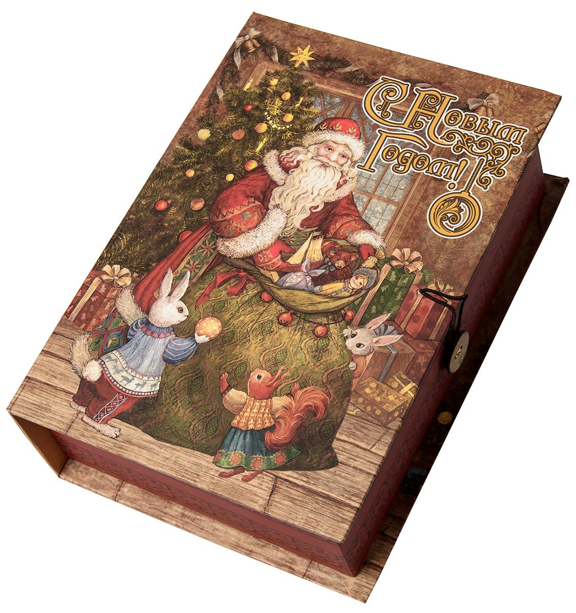 Коробка подарочная Magic Time Мешок с подарками, размер M. 7504775047Подарочная коробка Magic Time, выполненная из мелованного, ламинированного картона, закрывается на пуговицу. Крышка оформлена декоративным рисунком.Подарочная коробка - это наилучшее решение, если вы хотите порадовать ваших близких и создать праздничное настроение, ведь подарок, преподнесенный в оригинальной упаковке, всегда будет самым эффектным и запоминающимся. Окружите близких людей вниманием и заботой, вручив презент в нарядном, праздничном оформлении.Плотность картона: 1100 г/м2.