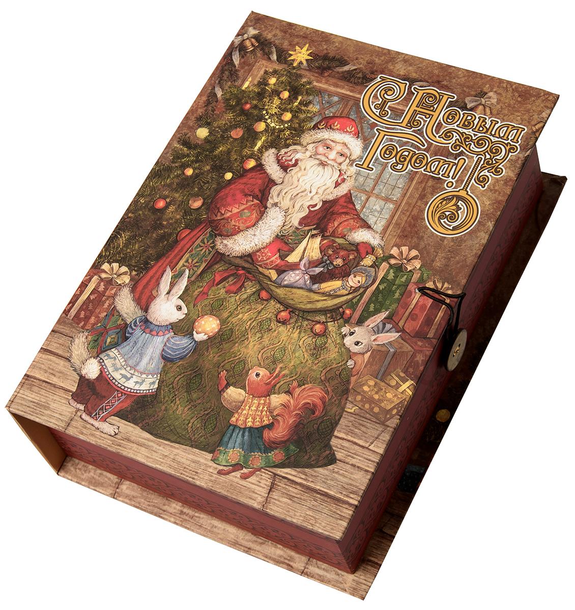 Коробка подарочная Magic Time Мешок с подарками, размер S. 7504875048Подарочная коробка Magic Time, выполненная из мелованного, ламинированного картона, закрывается на пуговицу. Крышка оформлена декоративным рисунком.Подарочная коробка - это наилучшее решение, если вы хотите порадовать ваших близких и создать праздничное настроение, ведь подарок, преподнесенный в оригинальной упаковке, всегда будет самым эффектным и запоминающимся. Окружите близких людей вниманием и заботой, вручив презент в нарядном, праздничном оформлении.Плотность картона: 1100 г/м2.