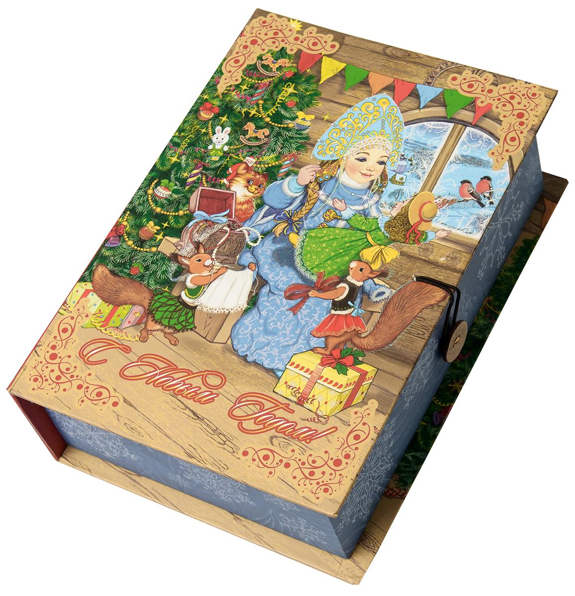 Коробка подарочная Magic Time Снегурка за работой, размер M. 7504975049Подарочная коробка Magic Time, выполненная из мелованного, ламинированного картона, закрывается на пуговицу. Крышка оформлена декоративным рисунком. Подарочная коробка - это наилучшее решение, если вы хотите порадовать ваших близких и создать праздничное настроение, ведь подарок, преподнесенный в оригинальной упаковке, всегда будет самым эффектным и запоминающимся. Окружите близких людей вниманием и заботой, вручив презент в нарядном, праздничном оформлении.Плотность картона: 1100 г/м2.