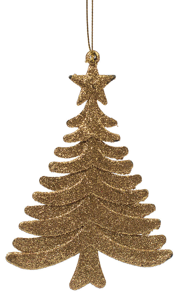 Новогоднее подвесное украшение Magic Time Ель золотая75067Новогоднее украшение Magic Time, выполненное из полипропилена, отлично подойдет для декорации вашего дома и новогодней ели. С помощью специальной петельки украшение можно повесить в любом понравившемся вам месте. Но, конечно, удачнее всего оно будет смотреться на праздничной елке.Елочная игрушка - символ Нового года. Она несет в себе волшебство и красоту праздника. Такое украшение создаст в вашем доме атмосферу праздника, веселья и радости.