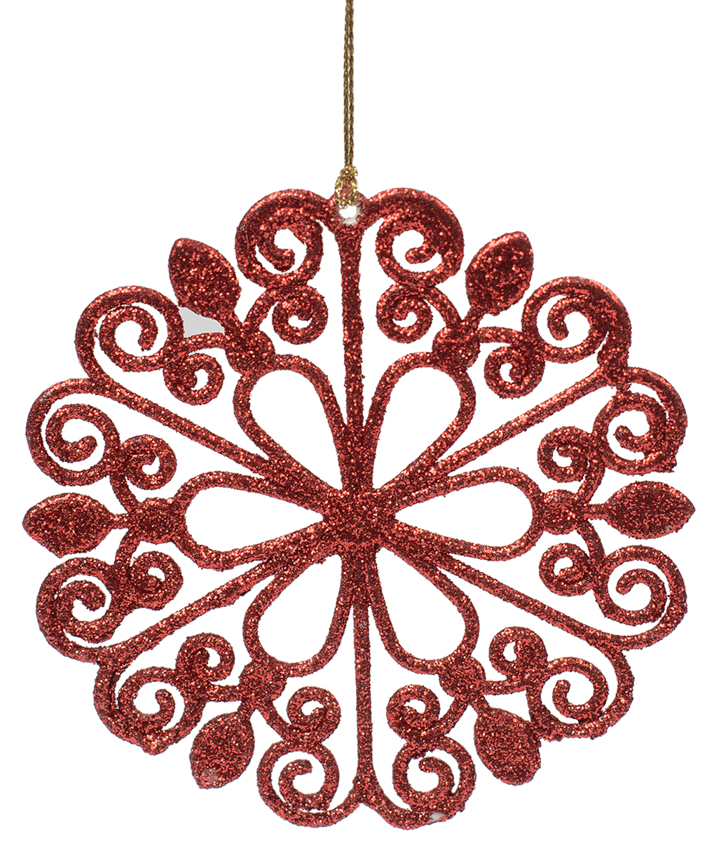 Новогоднее подвесное украшение Magic Time Цветок, цвет: красный. 7510275102Новогоднее украшение Magic Time, выполненное из полипропилена, отлично подойдет для декорации вашего дома и новогодней ели. С помощью специальной петельки украшение можно повесить в любом понравившемся вам месте. Но, конечно, удачнее всего оно будет смотреться на праздничной елке.Елочная игрушка - символ Нового года. Она несет в себе волшебство и красоту праздника. Такое украшение создаст в вашем доме атмосферу праздника, веселья и радости.
