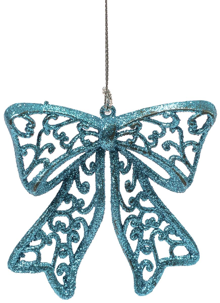 Украшение новогоднее елочное Magic Time Бантик голубой. 7511675116Новогоднее подвесное елочное украшение Бантик голубой из полипропилена, 8,5х9см, артикул 75116
