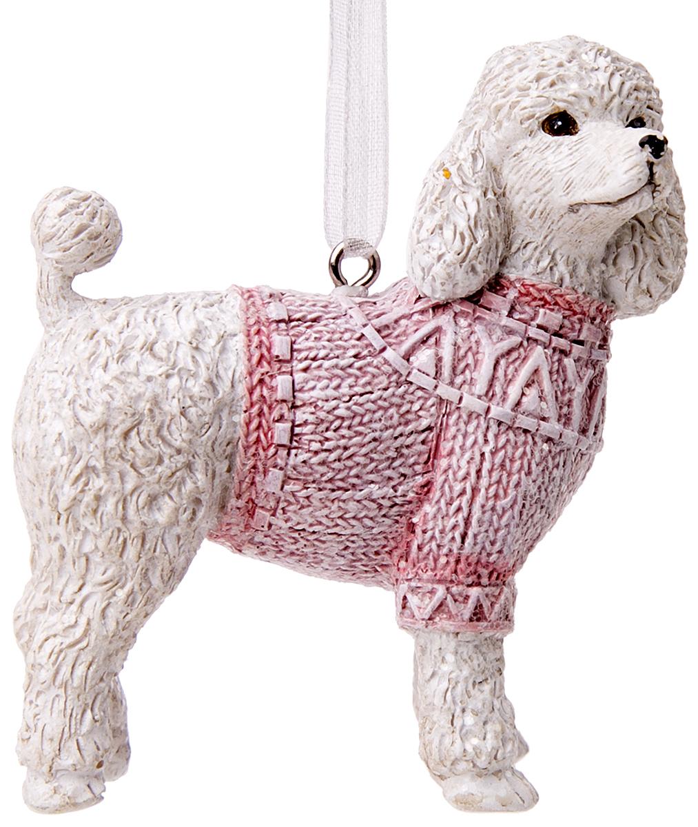 Украшение новогоднее подвесное Magic Time Пудель в розовом свитере75130Новогоднее подвесное украшение Пудель в розовом свитере выполнено из полирезина.